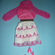 Mattel-Barbie~ Happy Go Pink~ Dress & Pilgrim Shoes, #1868 From 1969