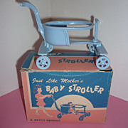 1950's ~Jeryco Product Baby Stroller~  Original Box -Old Store Stock