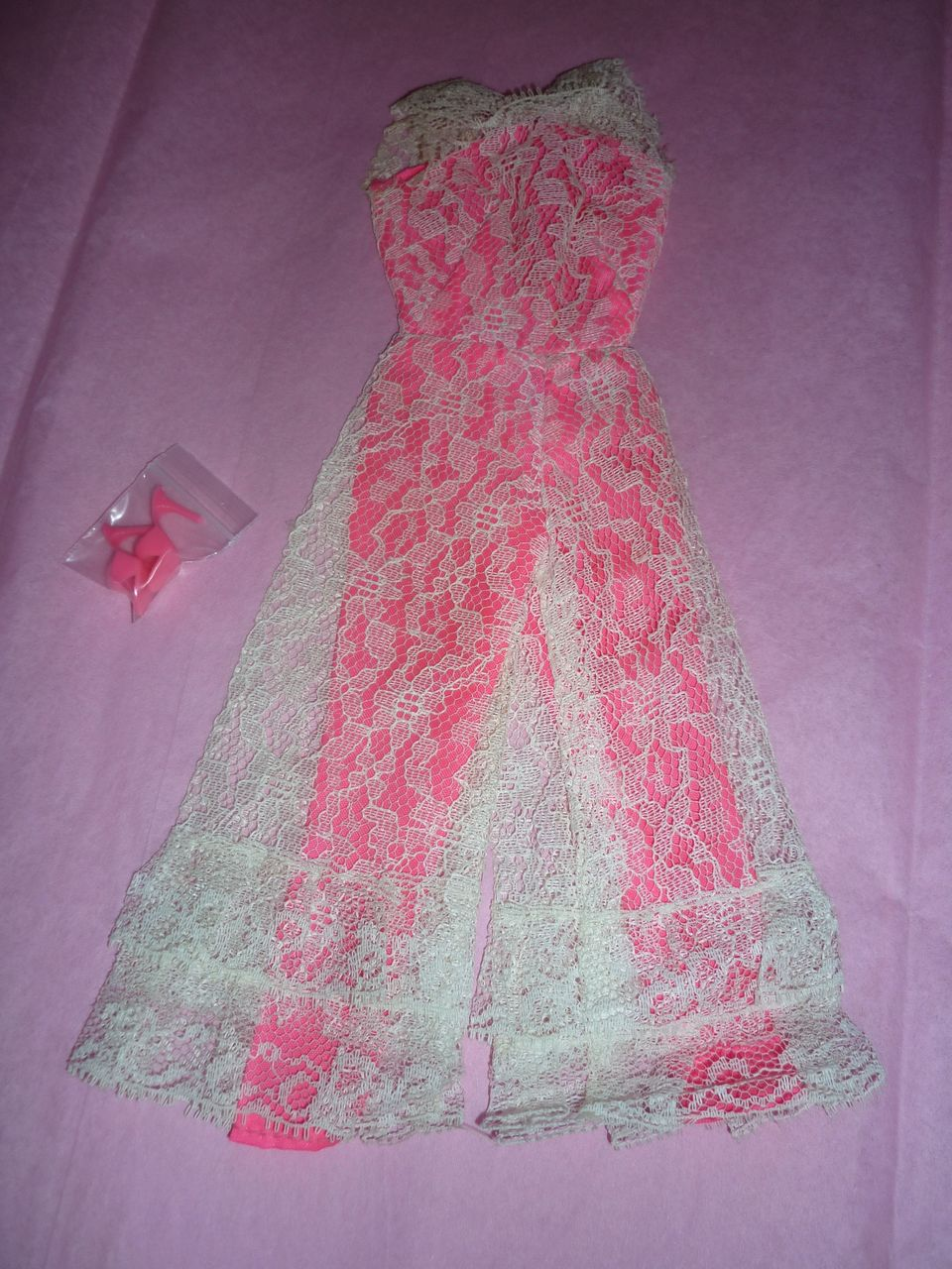 Mattel-Barbie ~Jump Into Lace~ 1968, Jumpsuit and Shoes #1823