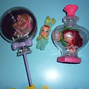 Mattel Liddle Kiddles Dolls ~Lolli-grape, Rosebud & Funny Bunny~