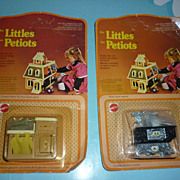 Mattel ~The Littles~ #1794-Oven & #1798-Ice Box-NRFP-1980-French/English d