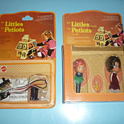 Mattel~The Littles~ 1980- Family-#1925 & Fireplace Light #3216-NRFP-Canadian Issue