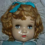 "1930's-40's ~Mama Doll~ 21""  - Composition & Cloth - Beautifully Dressed"