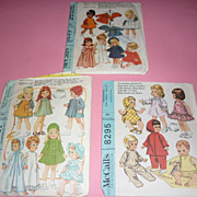 SOLD Mcall's 1960's Lot of Doll Patterns For a Variety of Dolls-Nice!