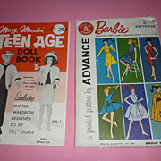 1961 Mattel/Advanced Barbie Pattern -Group B & Mary Maxim Knitting Book For Barbie And Friends
