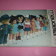 "Maudella Doll Clothes Pattern - 1960's - 13""-17"" Outfits & Shoes-Uncut"