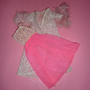 Mattel-Barbie ~Pink Moonbeams~Hot Pink Nightgown & Robe - #1694 From 1967 - 1968