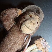 Old Tin & Mohair Monkey Toy -Charming -Schuco