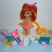 Mattel ~Tracey Trikediddle-Skediddle Doll~ 1968-70-Trike, Wagon, Pusher