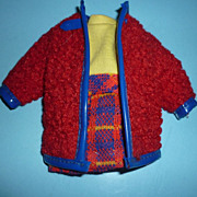 Mattel-Skipper ~Wooly Winner~ #1746 Dress & Coat From 1970-1971
