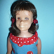 Mattel Skooter Doll -Brunette- 1965- Wears~Can You Play~ #1923