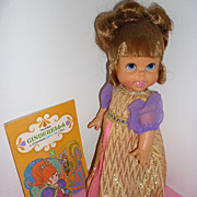 Mattel ~Small Talk -Cinderella Doll~All Original-HTF Glass Slippers & Book From 1968-69