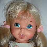 Mattel ~Baby Small Talk- Goldilocks Doll~ Still Talks -Original Dress- From 1967