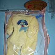 Ideal ~Tearie Dearie-Doll Outfit~ NRFP- Yellow Terry Doggie Jumper With Blue Hanger 1964 ...