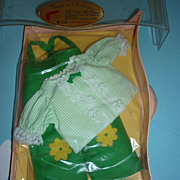Ideal ~Tearie Dearie Doll Outfit~ From 1964 -NRFP- Green Romper Set-Canadian Issue