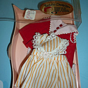 Ideal ~Tearie Dearie Doll~ Clothing - Tagged Red Two Piece Outfit & Orange Dress & Pink Dress