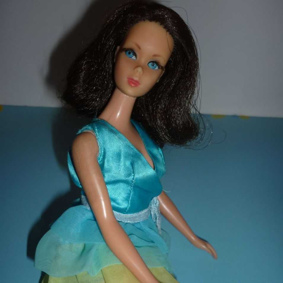 Mattel Twist  'N Turn Flip Barbie-Brunette Wears Dreamy Blues