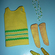 Mattel ~Twiggy-Do's~ Dress, Necklace, Socks, Shoes-#1725 -1968