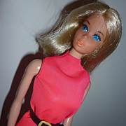 Mattel ~Walk Lively Barbie~ Stand & Original Clothing #1182 -1972