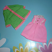SOLD Mattel -Skipper's ~Pink Princess~ Dress & Coat  #1747 From 1970-71