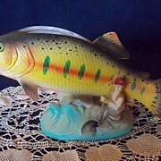 SOLD Vintage Trout  Fish  Planter