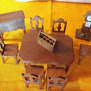 REDUCED Vintage StromBecker Dollhouse Dining Room Set -10 piece