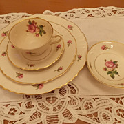 Vintage Syracuse China- Victoria Pattern, five piece setting
