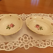 Vintage Syracuse Victoria Pattern China-2 Serving Bowls
