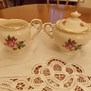 Vintage Syracuse Cream and Covered Sugar- Victoria Pattern