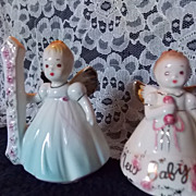Vintage Josef Birthday Angels-Baby and #1