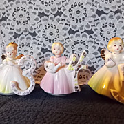 Vintage Josef Birthday Angel-# 3,4 and 5