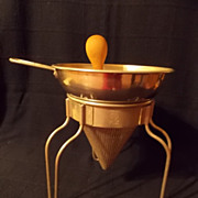 Vintage Wear-Ever Sieve and Press with Wooden Pestle
