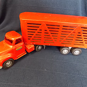 Vintage Tonka Toy Cattle Trailer and Truck