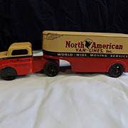 Vintage North American Van Lines Truck and Trailer