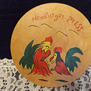 Vintage wooden Hamburger Press