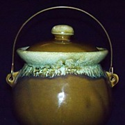 REDUCED Vintage Bean Pot - Green
