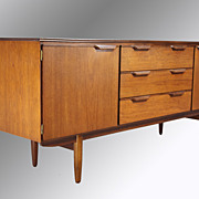 SOLD Danish Modern Teak Flat Screen TV Credenza Sideboard Buffet
