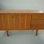 SOLD Compact Danish Modern Teak Credenza Sideboard Server