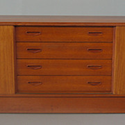 SOLD Clausen Sons Danish Modern Teak Credenza Sideboard Buffet 7ft