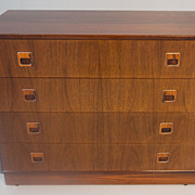SOLD Hjornebo Mobel Danish Modern Rosewood Chest of Drawers Dresser