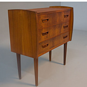 SOLD Danish Modern Teak Night Stand Dresser