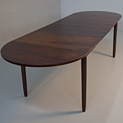 SOLD Randers Mobel Danish Modern Rosewood Space Saving 8ft Dining Table
