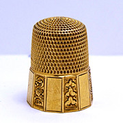 Vintage 14K Ornate Thimble