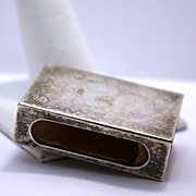 Vintage Freedman Silver Company Silver Plated Match Case