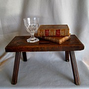 Antique English Oak Provincial Stool