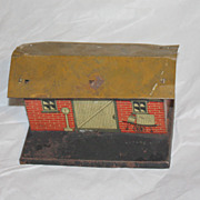 American Flyer town depot train station vintage tin plate nice!!