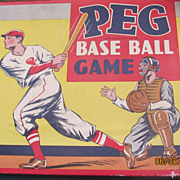 Nice vintage Parker Bros Peg baseball game in box dice!