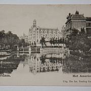 Amsterdam Holland Het American Hotel postcard early