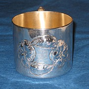 REDUCED Sterling Silverplate Baby Cup By Poole Taunton, Mass