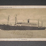 REDUCED S.S Republic Post Card